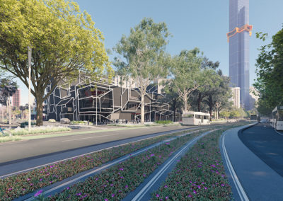 City of Melbournes Southbank Boulevard Green Space project render by Scenery