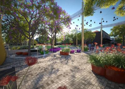 Greville St and Grattan Gardens Prahran render by Scenery