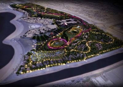 Katara aerial_night render by Scenery