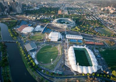 Olympic Park Melbourne aeriel view