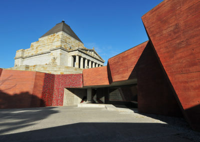 Shrine of Remembrance Melbourne entrance courtyard