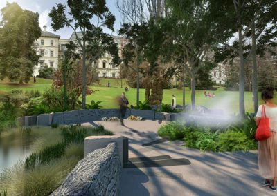 Victoria Emergency Services Memorial render by Scenery